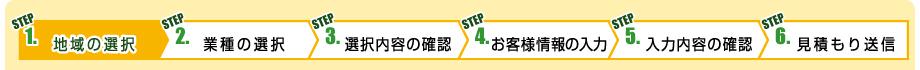 STEP 1. 地域の選択